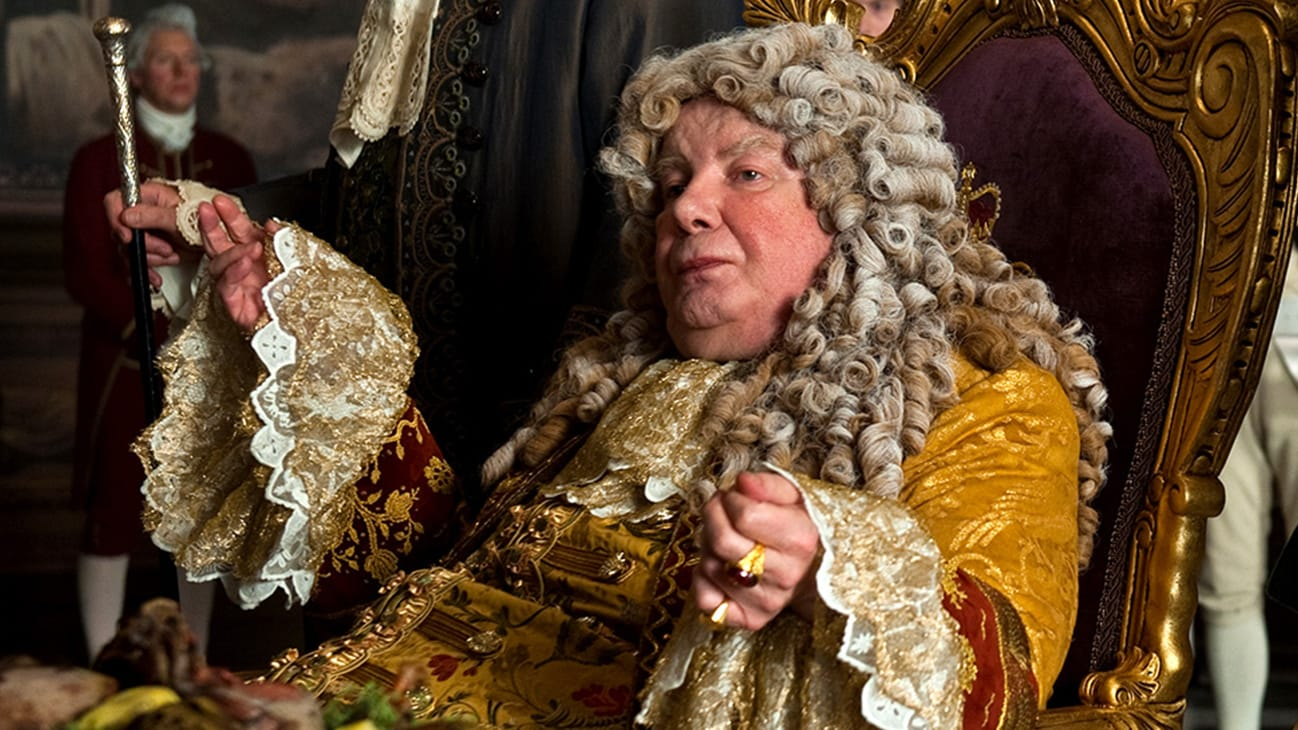King George (Richard Griffiths) in the Disney movie Pirates of the Caribbean: On Stranger Tides.
