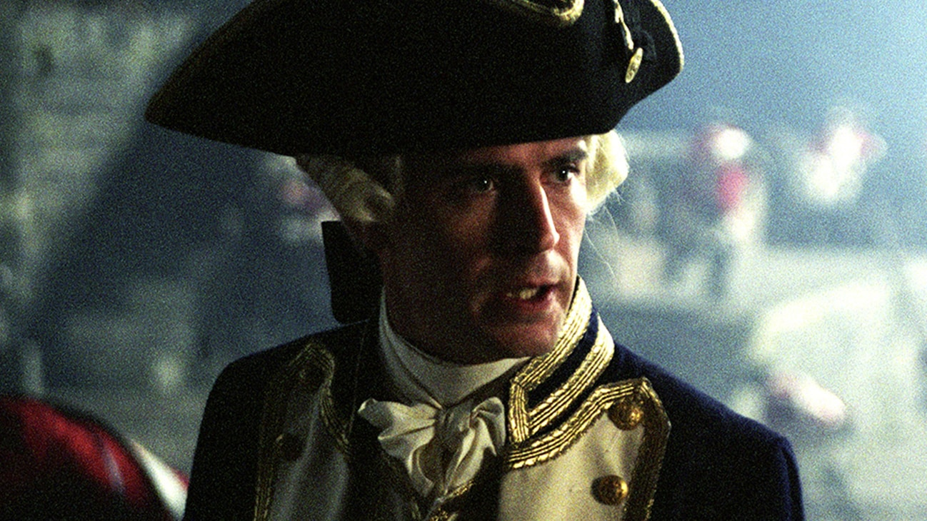 Norrington (Jack Davenport) in the Disney movie Pirates of the Caribbean: The Curse of the Black Pearl.