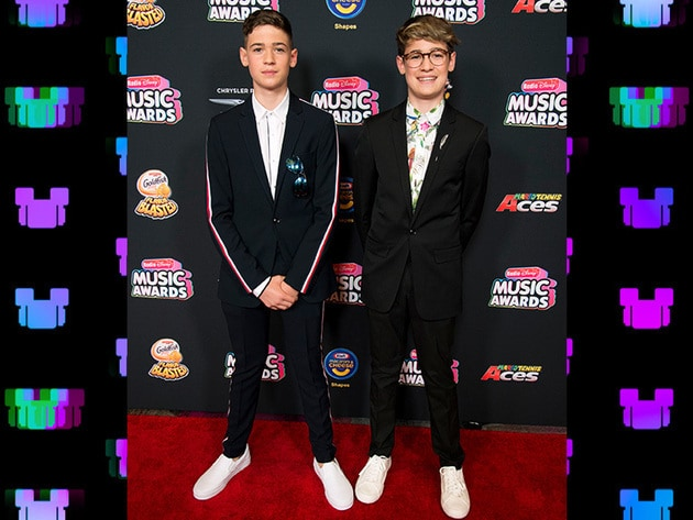 2018 RDMA Nominees Max & Harvey smiling for the cameras on our red carpet