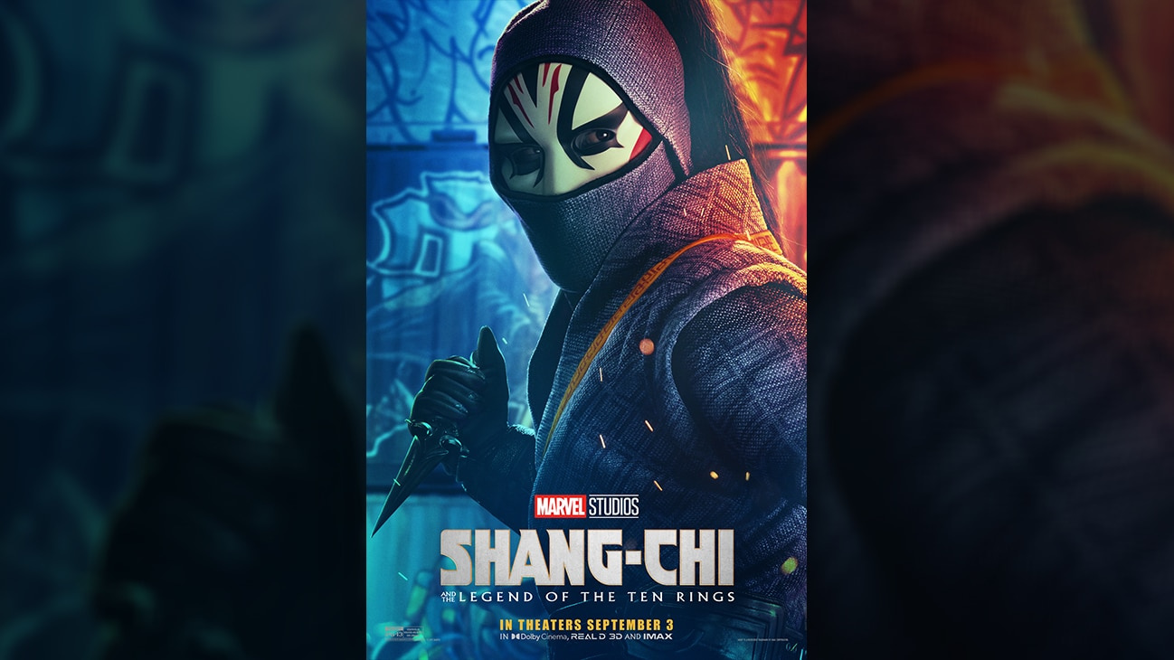 Death Dealer (actor Andy Le) movie poster image from Marvel Studios' Shang-Chi and the Legend of the Ten Rings. In theaters September 3.