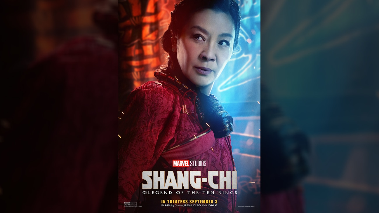 Jiang Nan (actor Michelle Yeoh) movie poster image from Marvel Studios' Shang-Chi and the Legend of the Ten Rings. In theaters September 3. Rated PG-13.