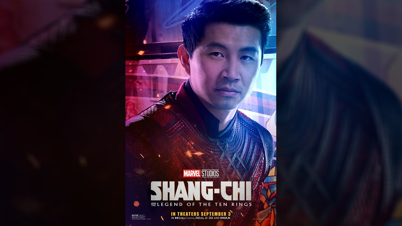 Shang-Chi (actor Simi Liu) movie poster image from Marvel Studios' Shang-Chi and the Legend of the Ten Rings. In theaters September 3. Rated PG-13.
