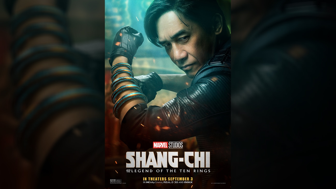 Wenwu (actor Tony Leung) movie poster image from Marvel Studios' Shang-Chi and the Legend of the Ten Rings. In theaters September 3. Rated PG-13.