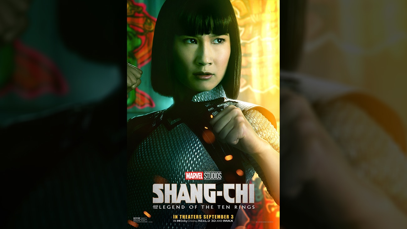 Xialing (actor Meng'er Zhang) movie poster image from Marvel Studios' Shang-Chi and the Legend of the Ten Rings. In theaters September 3. Rated PG-13.