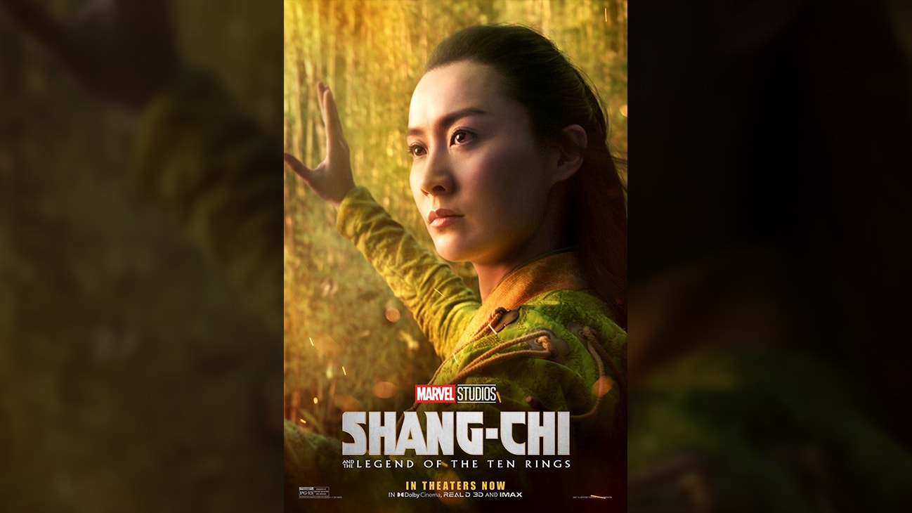 Ying Li (actor Fala Chen) movie poster image from Marvel Studios' Shang-Chi and the Legend of the Ten Rings.