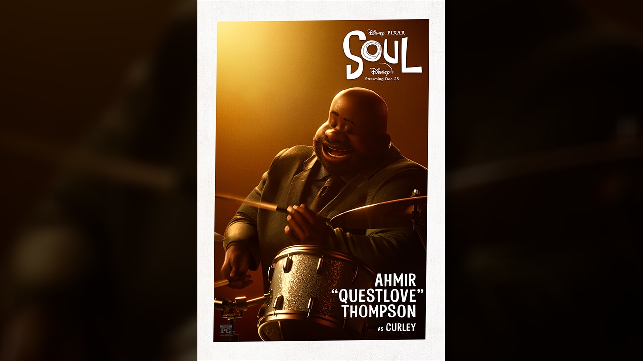 "Disney • Pixar Soul | Ahmir ""Questlove"" Thompson as Curley."