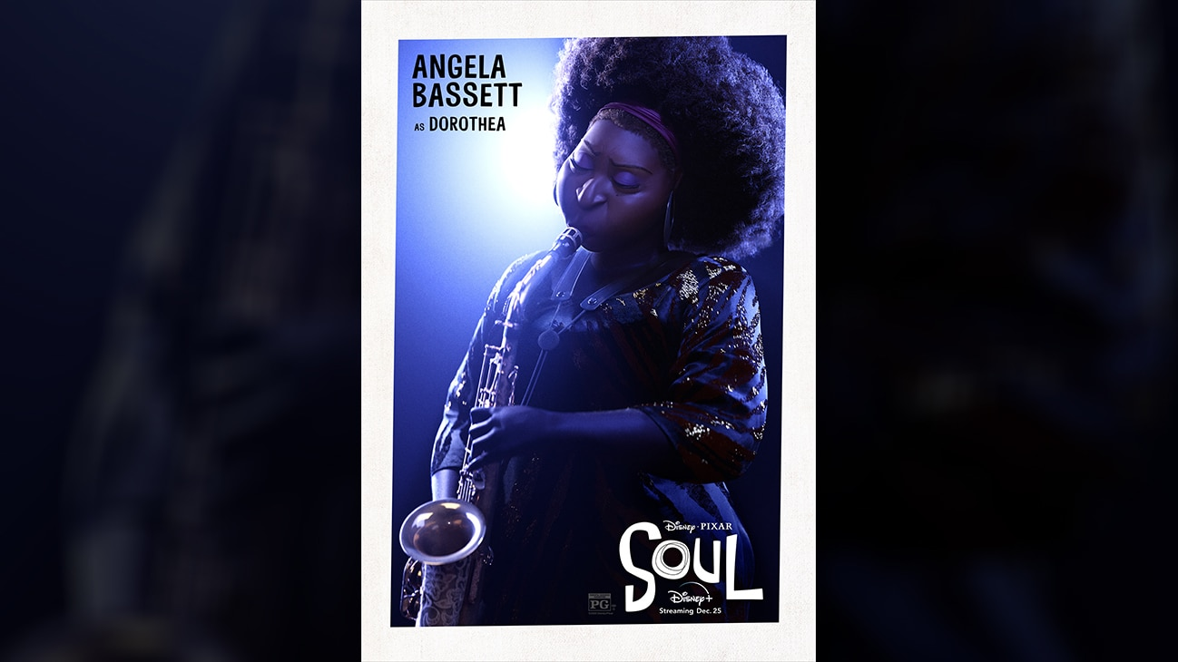 Disney • Pixar Soul | Angela Bassett as Dorothea.