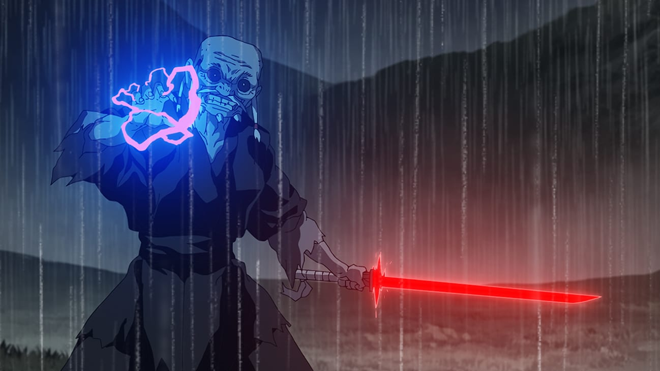 """The Elder (voiced by Kenichi Ogata in Japanese and James Hong in the English Dub) in a scene from """"STAR WARS: VISIONS"""" short, """"THE ELDER"""", exclusively on Disney+. © 2021 Lucasfilm Ltd. & ™. All Rights Reserved."""