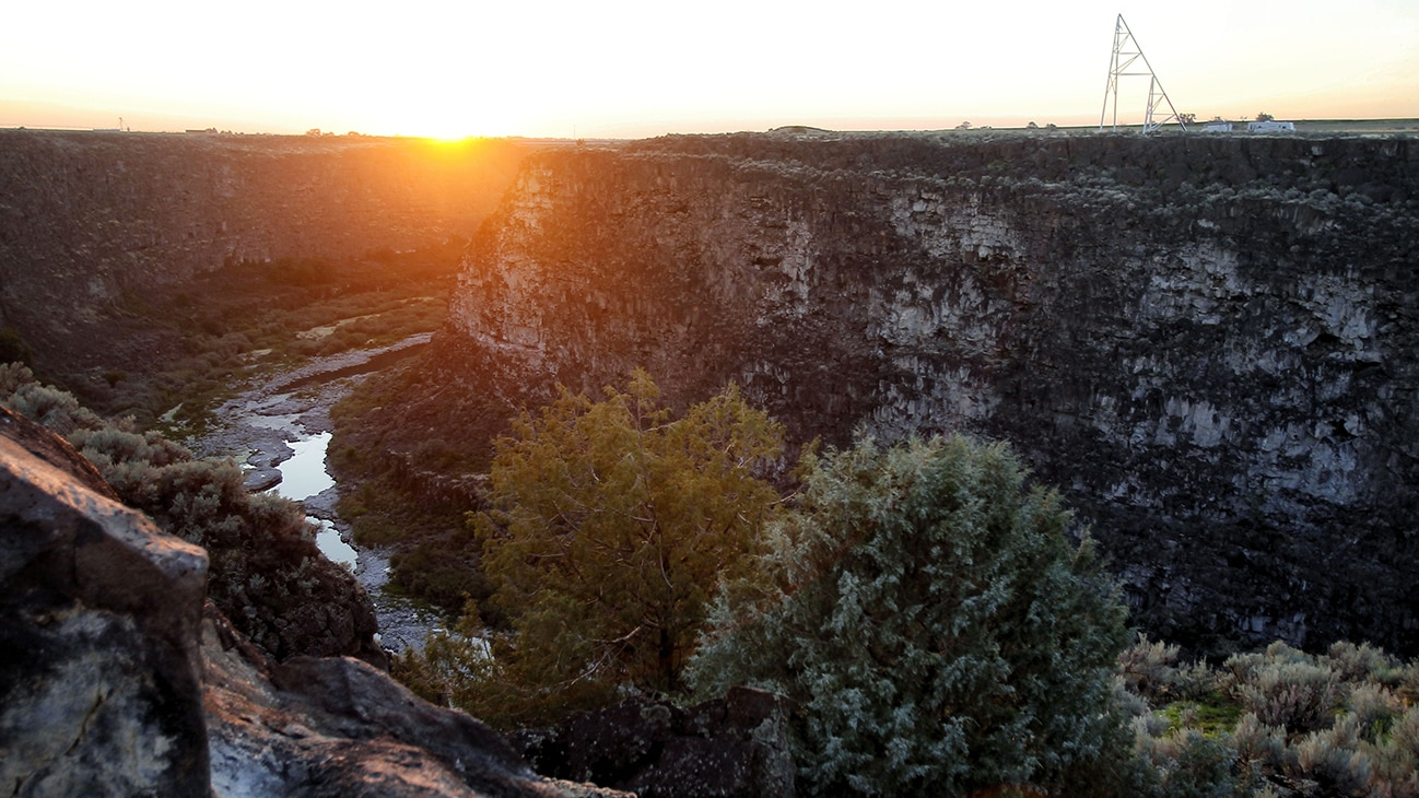 Picture of a canyon from the Disney+ Originals movie Stuntman. (Disney/ Steve Dondero)