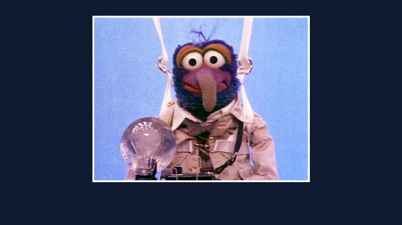 Gonzo from the Disney movie The Great Muppet Caper.