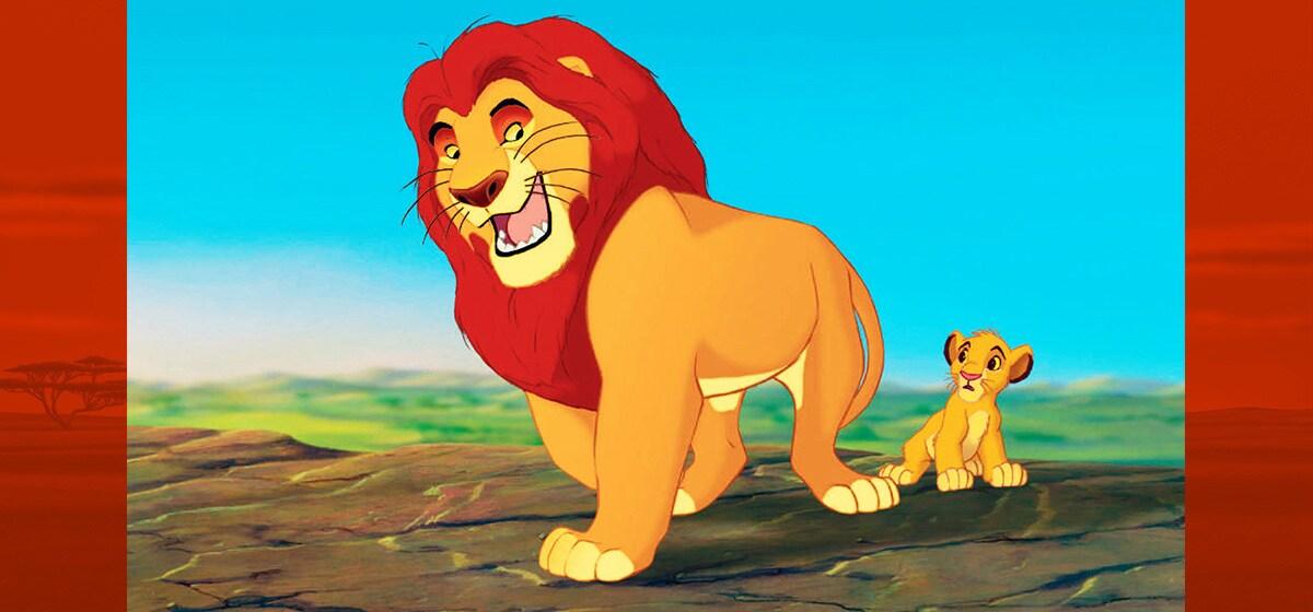 """James Earl Jones (Mufasa), Jonathan Taylor Thomas (young Simba) in """"The Lion King"""""""