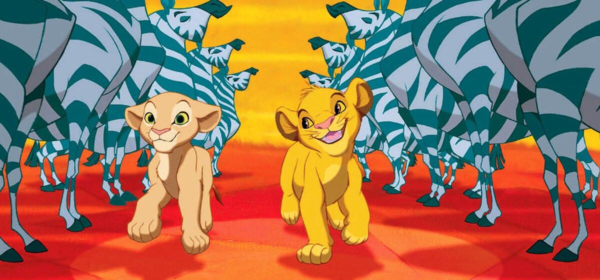 "Jonathan Taylor Thomas (young Simba) and Niketa Calame-Harris (young Nala) in ""The Lion King"""