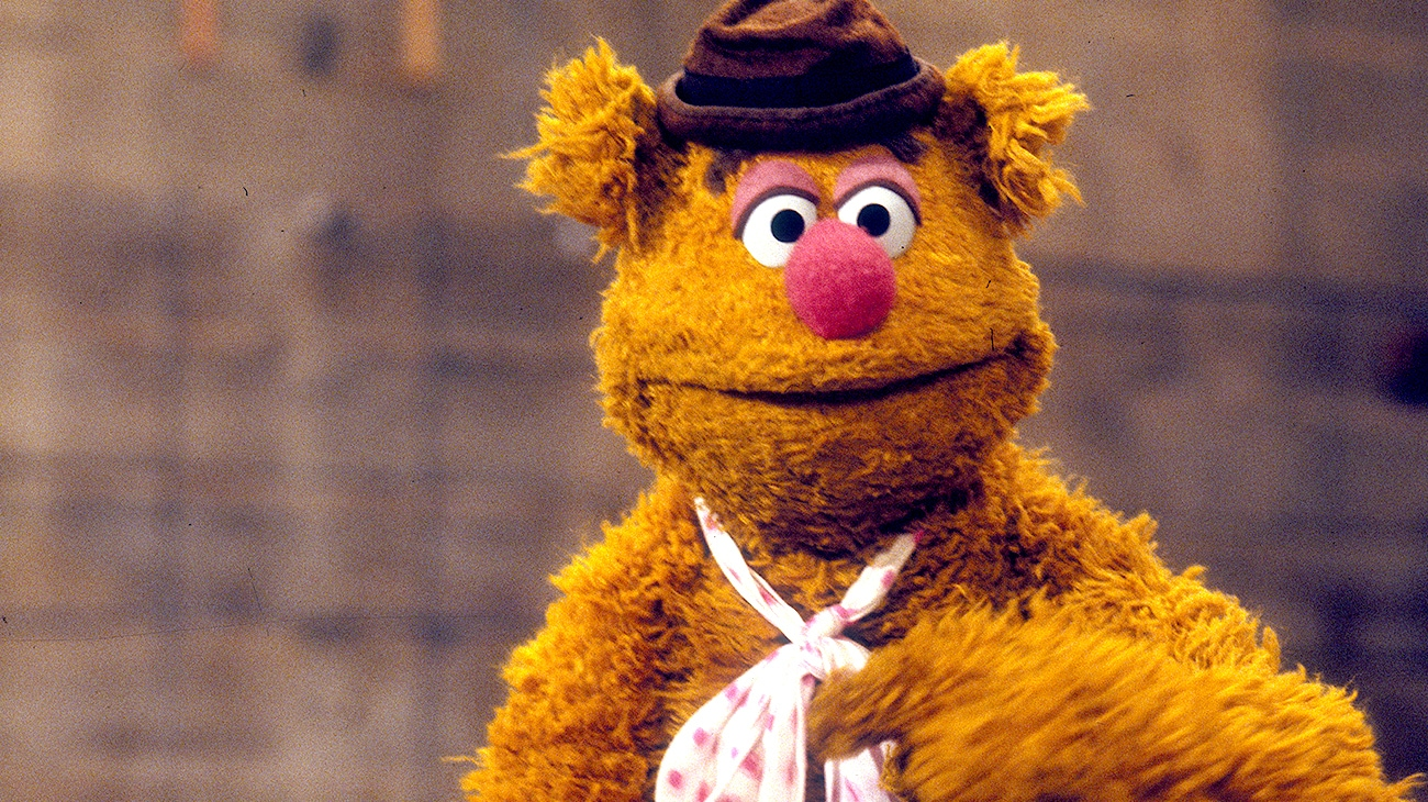 Fozzie Bear voiced by Fran Oz in The Muppet Movie