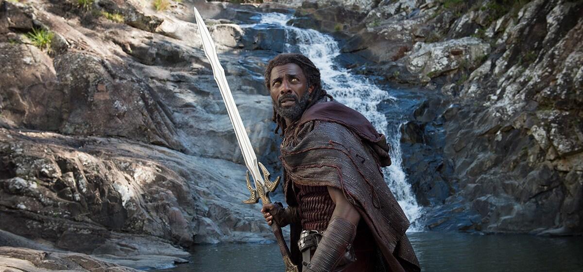 "Idris Elba (Heimdall) from the movie ""Thor:Ragnarok"""