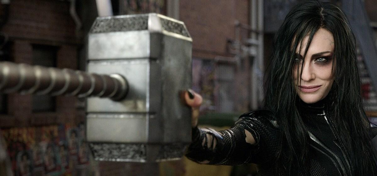 "Cate Blanchett (Hela) from the movie ""Thor: Ragnarok"""