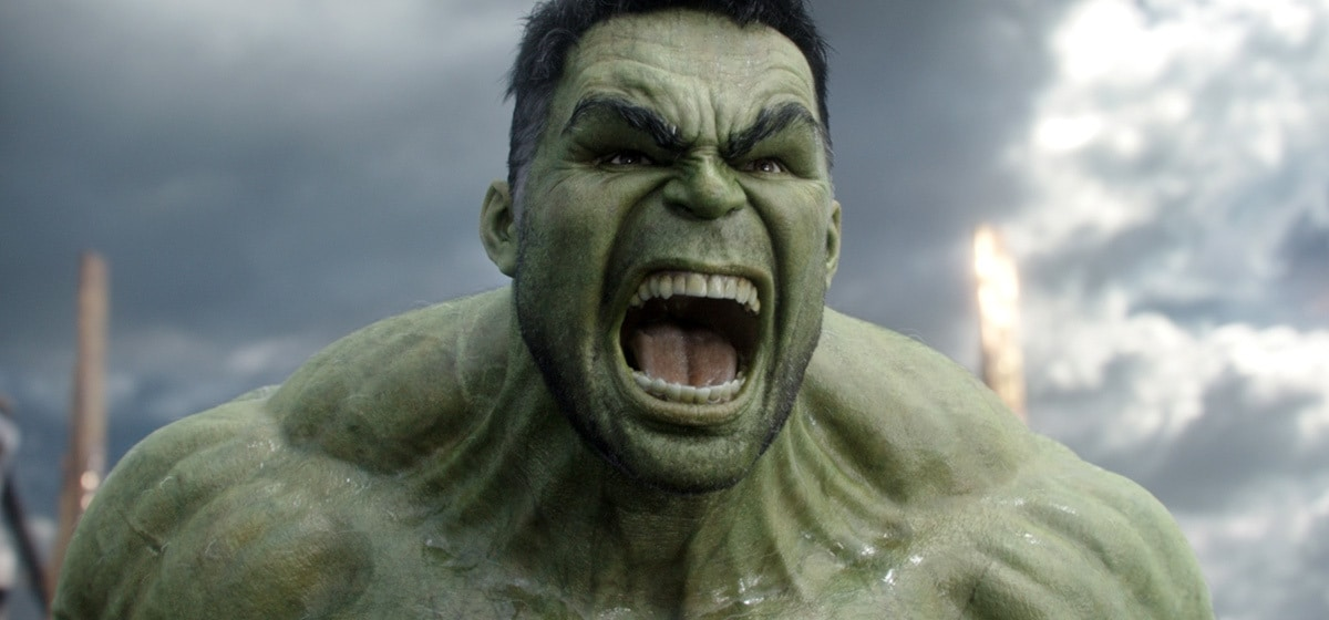 """An angry Hulk from the movie """"Thor: Ragnarok"""""""