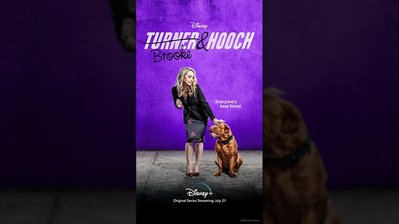 Brooke from the Disney+ Original series Turner & Hooch. | Disney+ | Original series streaming July 21.