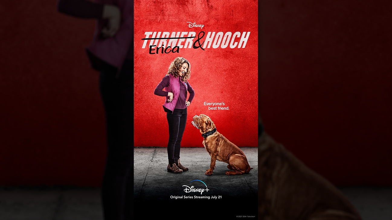 Erica from the Disney+ Original series Turner & Hooch. | Disney+ | Original series streaming July 21.