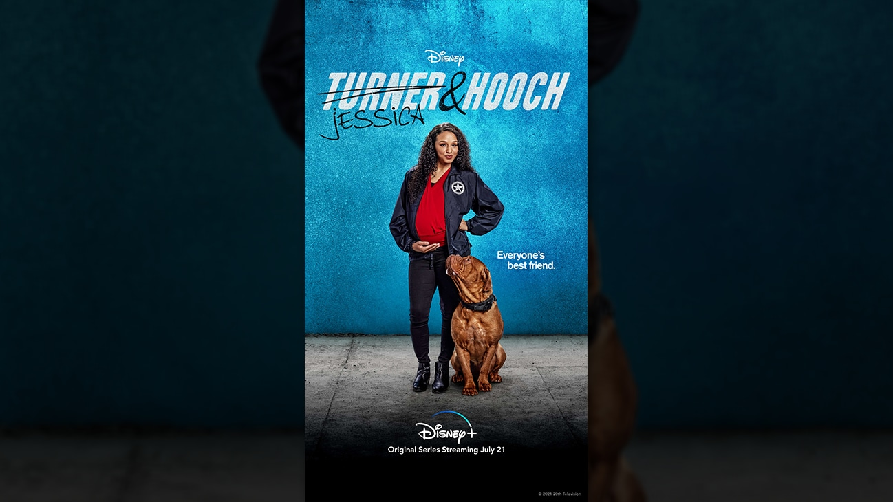 Jessica Turner from the Disney+ Original series Turner & Hooch. | Disney+ | Original series streaming July 21.