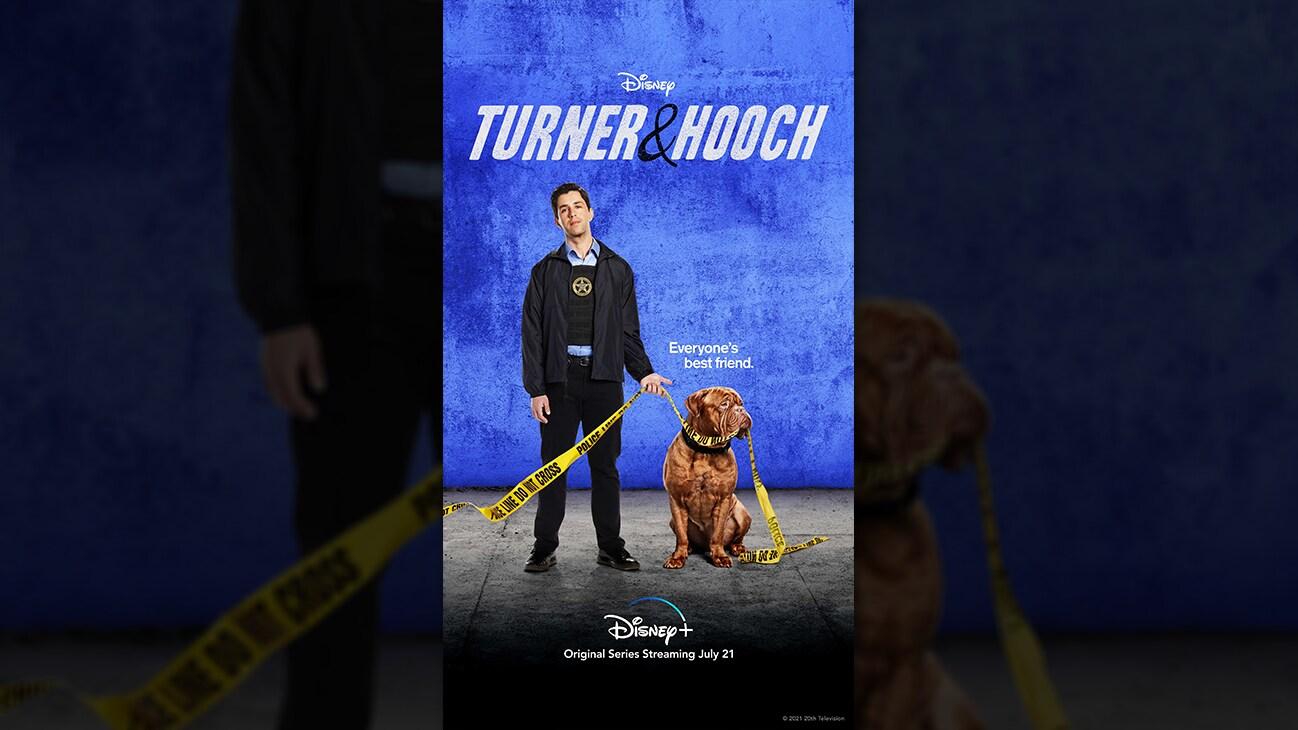 Turner & Hooch from the Disney+ Original series Turner & Hooch. | Disney+ | Original series streaming July 21.