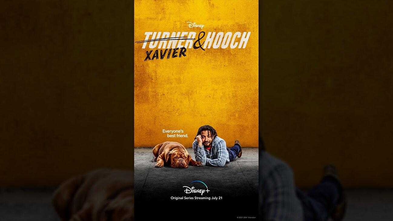 Xavier from the Disney+ Original series Turner & Hooch. | Disney+ | Original series streaming July 21.