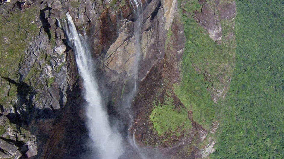 Photo of cave waterfalls from the movie earth