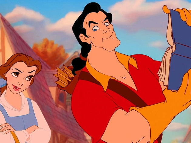 Gaston is hoping to woo and marry an unimpressed Belle.