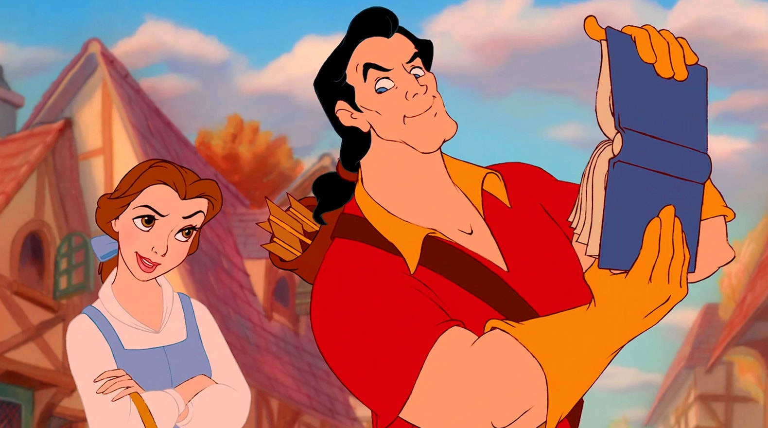 Gaston is looking to woo and marry Belle.