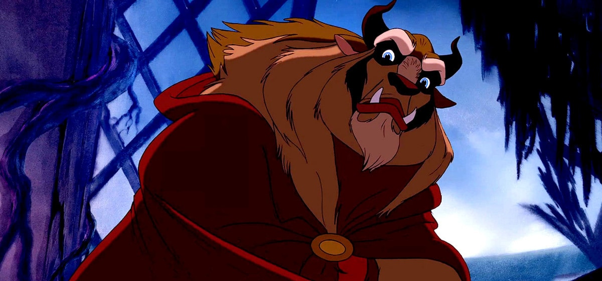 Robby Benson as Beast in the Disney movie Beauty and the Beast (1991).