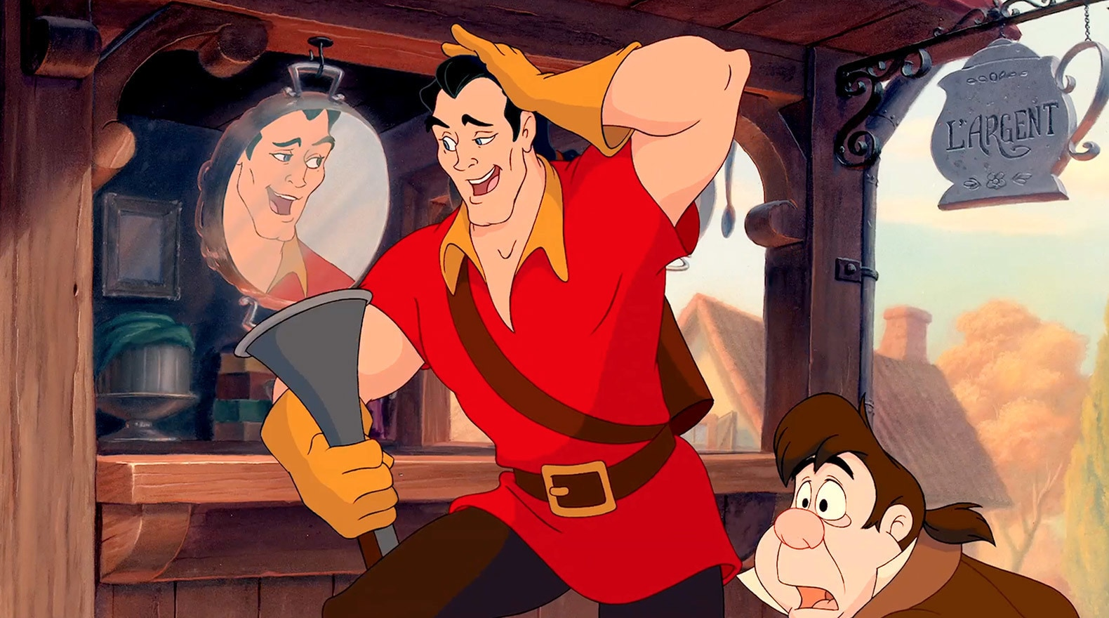 This duo is more of a trio when counting Gaston's ego.