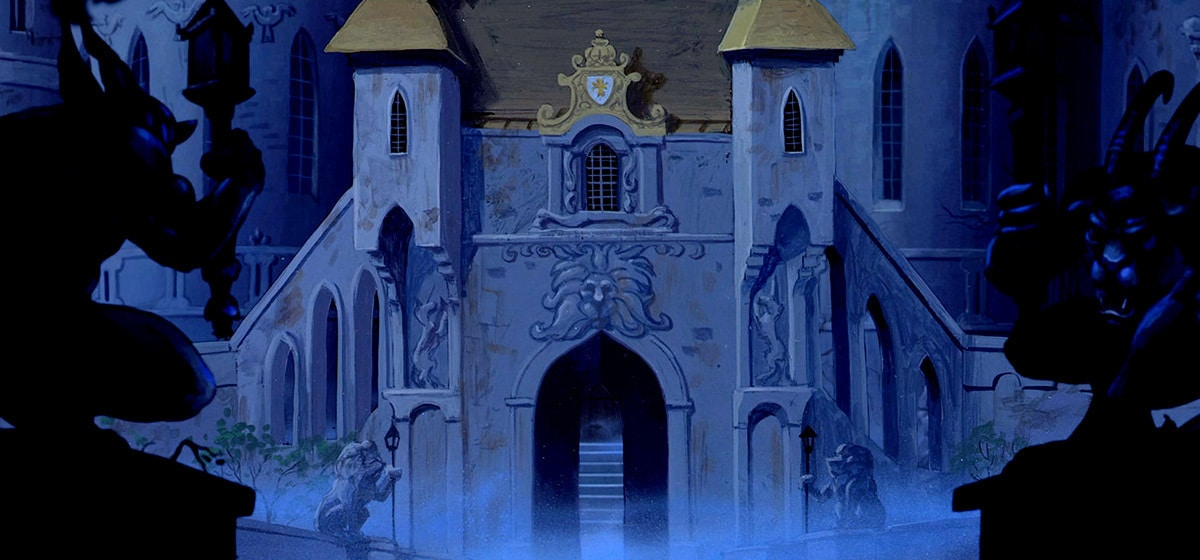 The castle from the Disney movie Beauty and the Beast (1991).