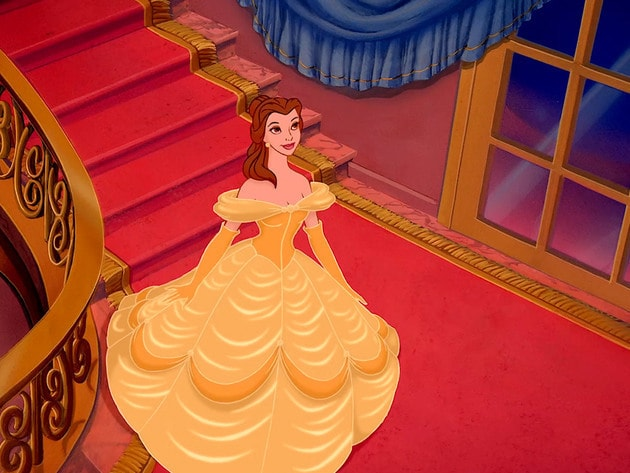 Belle changes into a beautiful gown, in anticipation of an evening of ballroom dancing. Doesn't s...