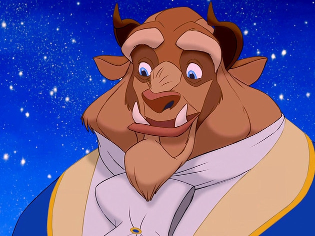 Beast makes a real effort to look dashing, ready for his date with Belle.
