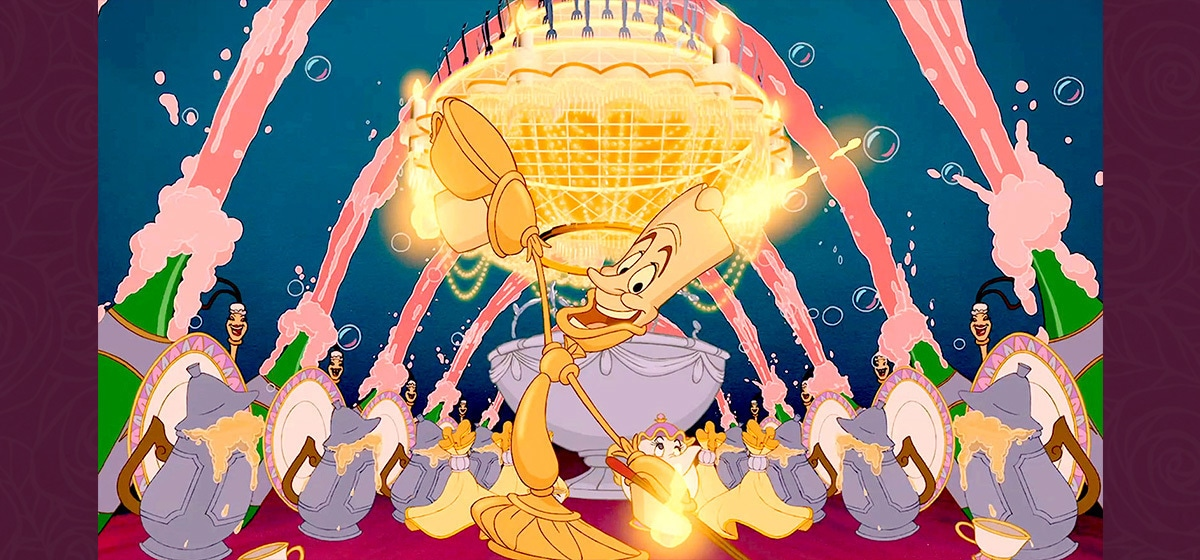 Jerry Orbach as Lumiere in the Disney movie Beauty and the Beast (1991).