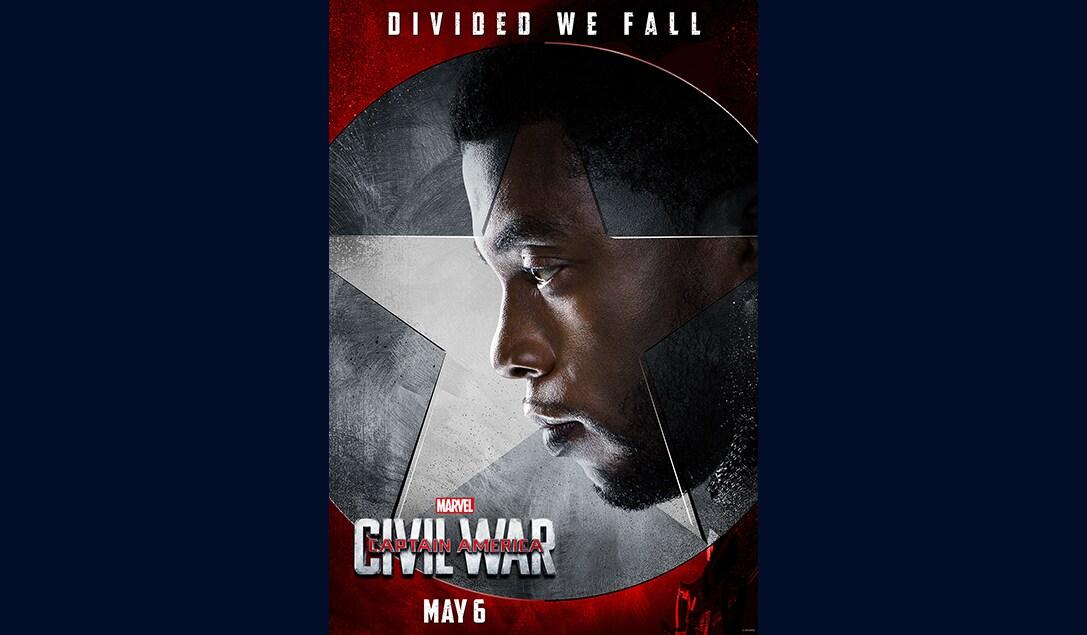 Chadwick Boseman (T'Challa/Black Phanther) in Marvel's Captain America Civil War