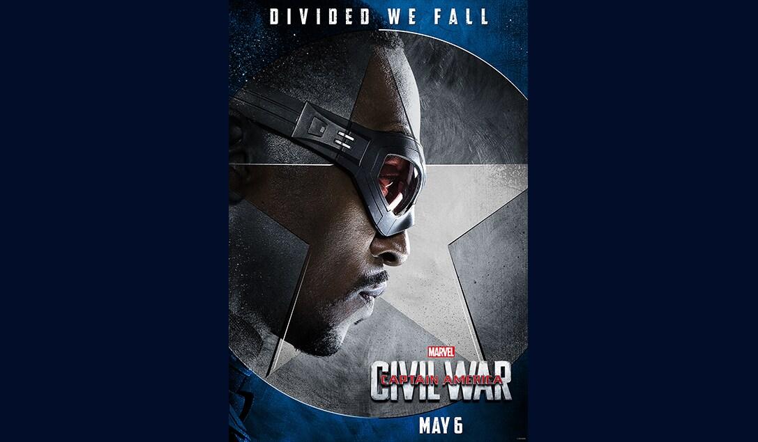 Anthony Mackie (Sam Wilson/Falcon) in  Marvel's Captain America Civil War