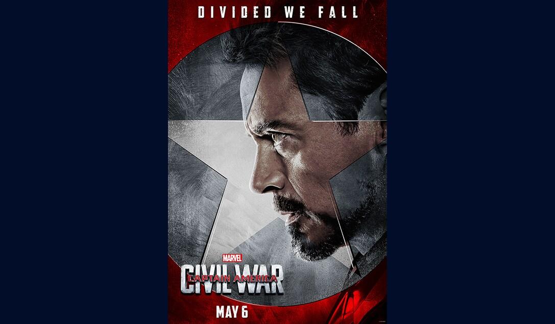 Robert Downey Jr. (Tony Stark/Iron Man)  in Marvel's Captain America Civil War