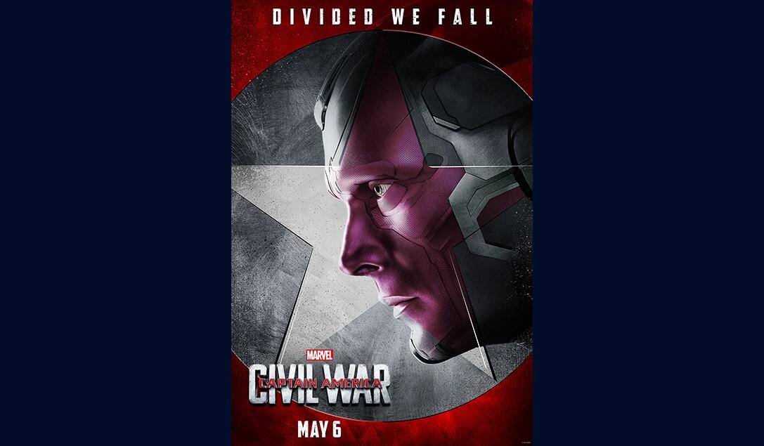 Paul Bettany (Vision) in Marvel's Captain America Civil War