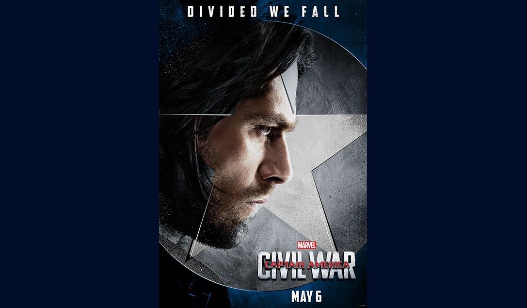 Sebastian Stan (Bucky Barnes/Winter Soldier) in Marvel's Captain America Civil War