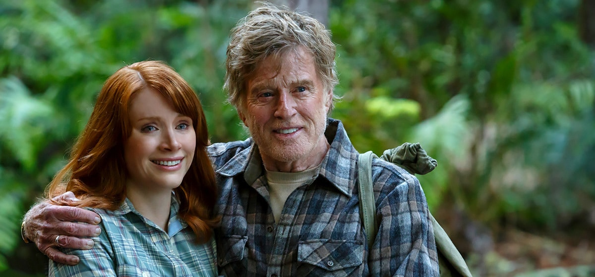 """Robert Redford (Mr. Meacham) and Bryce Dallas Howard (Grace) in """"Pete's Dragon"""""""