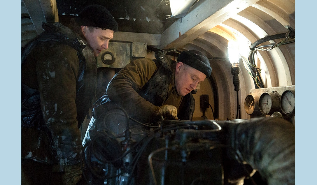"""Crew members repairing damaged machinery in the movie """"The Finest Hours"""""""