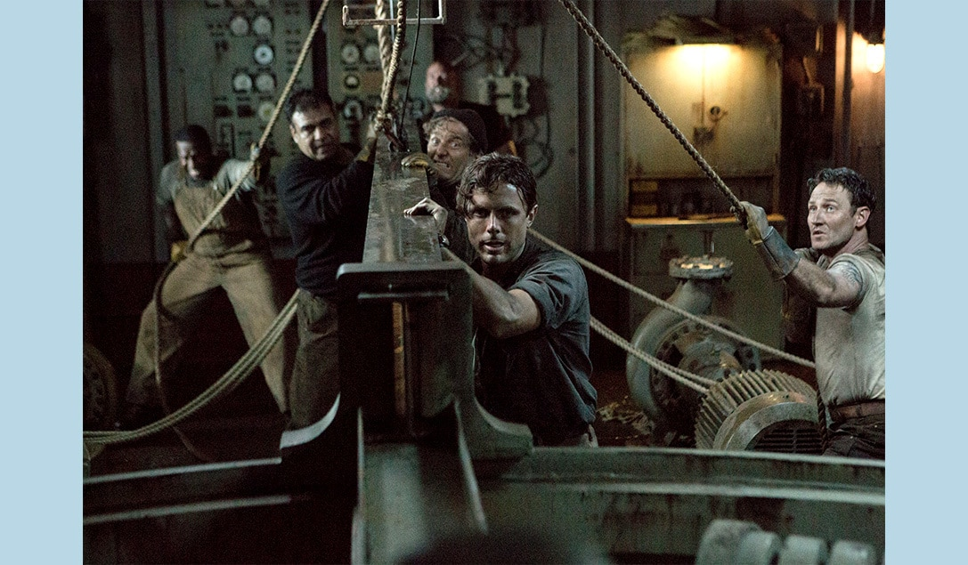 """Casey Affleck and Josh Stewart in the movie """"The Finest Hours"""""""