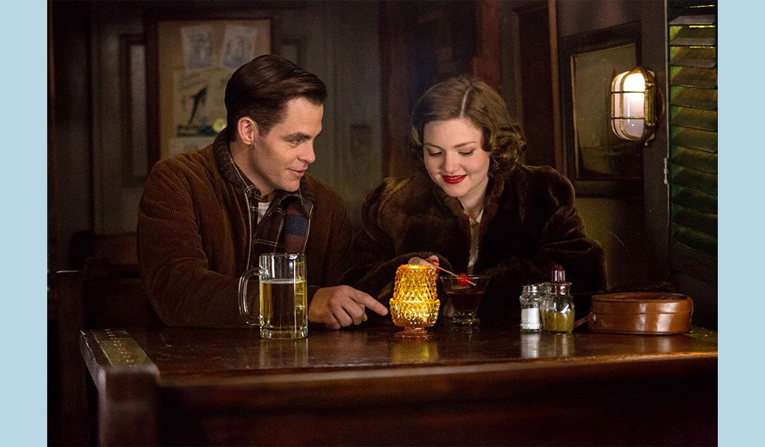 """Holliday Grainger and Chris Pine in the movie """"The Finest Hours"""""""