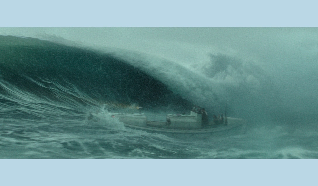"""The Coast Guard ship in the stormy waters in the movie """"The Finest Hours"""""""