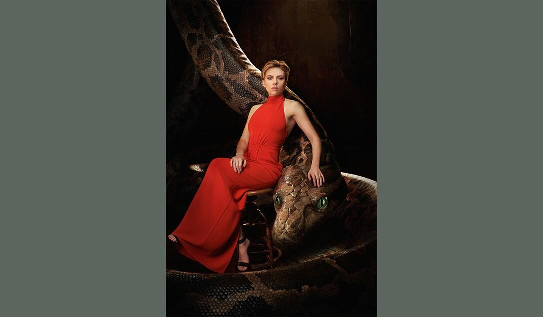 "Scarlett Johansson as Kaa in ""The Jungle Book"""
