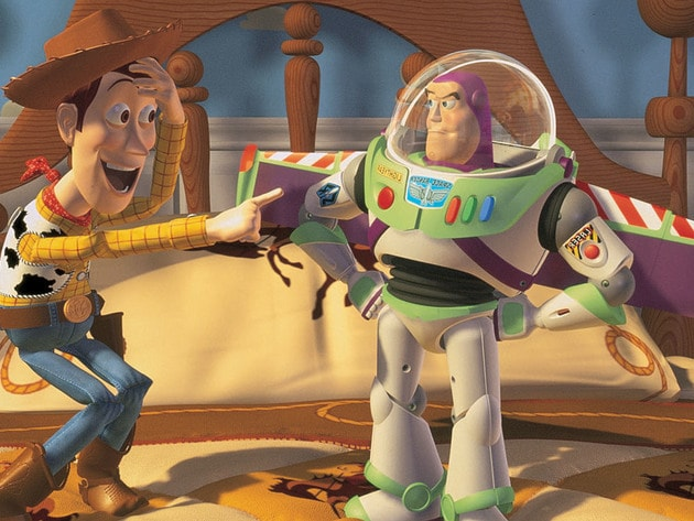 """Buzz look, an alien!"""