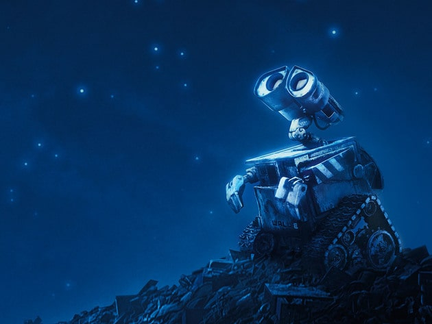 WALL•E is one of those robots who has a hard time keeping his head out of the clouds.