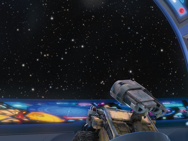 WALL•E likes the view from the great beyond.