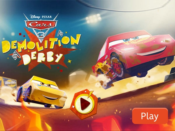 Demolition Derby | CARS 3 | Disney Games | Malaysia