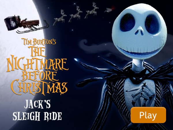 the nightmare before christmas jacks sleigh ride disney lol
